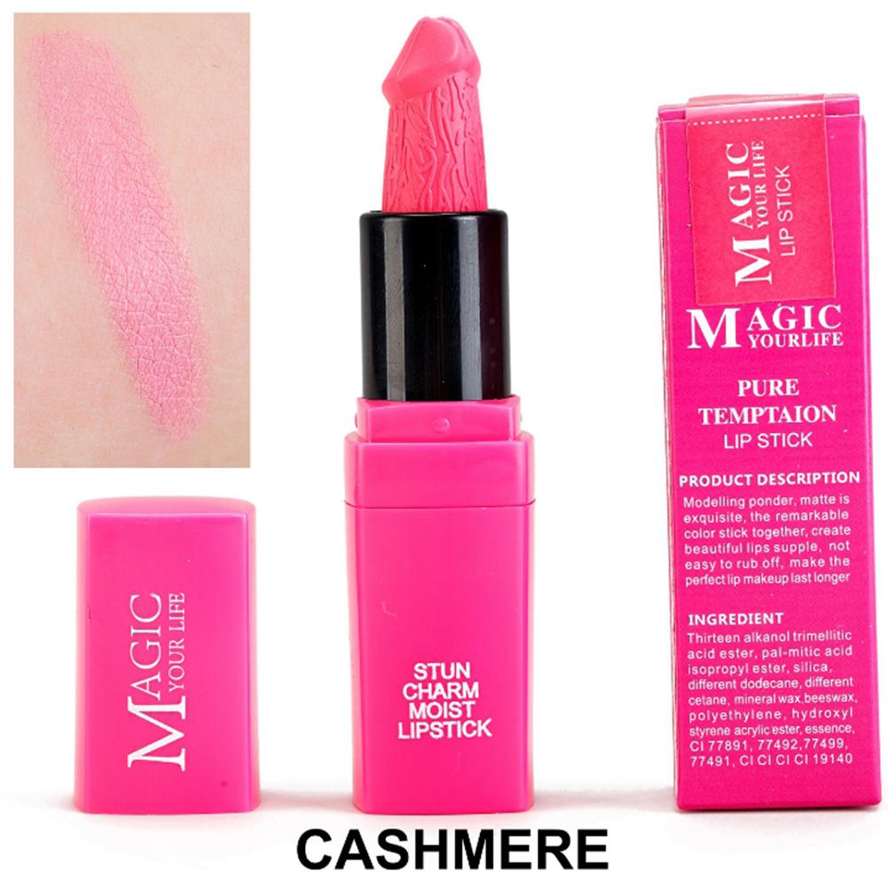 Mushroom Shape Lipstick Waterproof Matte Long Lasting Moisture Lip Gloss 12 colors