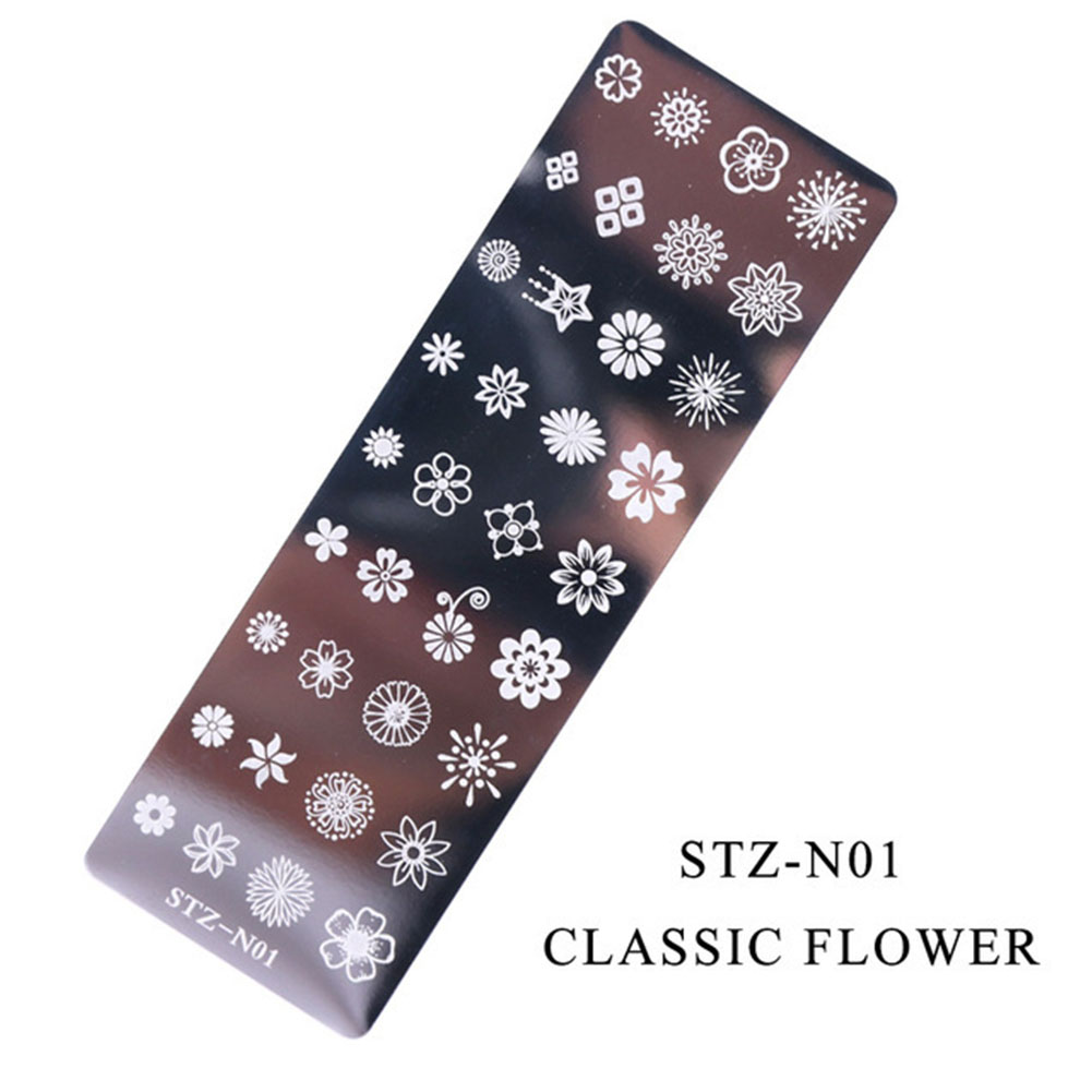 Nail Art Stamping Plates Dream Catcher Lace Flower Patterns Nail Polish Transfer Stencils Manicure Image Tools  STZ-N01
