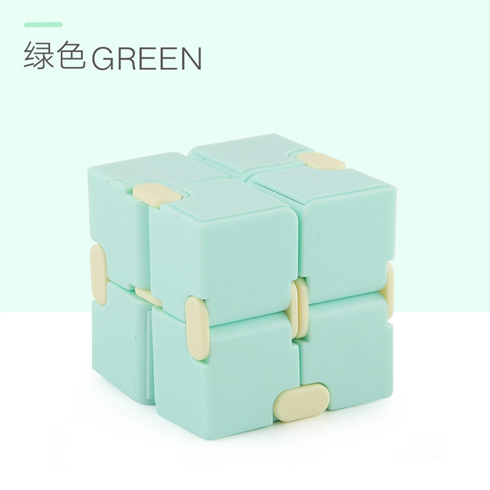 Plastic 4cm Stress  Reliever Pocket  Cube Infinite Magic Cube Gift Relaxation Toy green