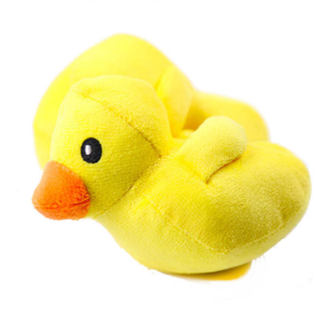 Soft Plush Pet Toy Cute Yellow Duck Squeeze Sound Toy for Cat Dog yellow