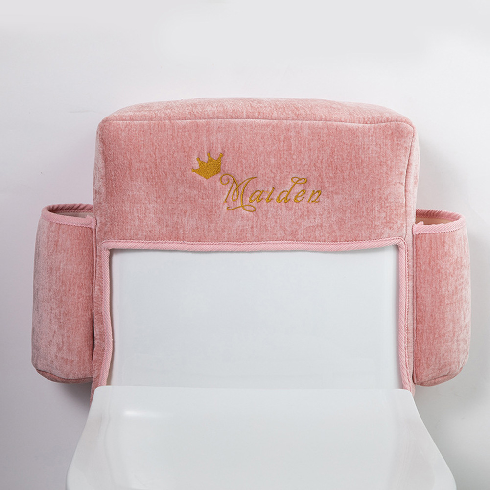 Household Waterproof Toilet Paper Storage Pouch Wear-resistant Toilet Cover  Pink