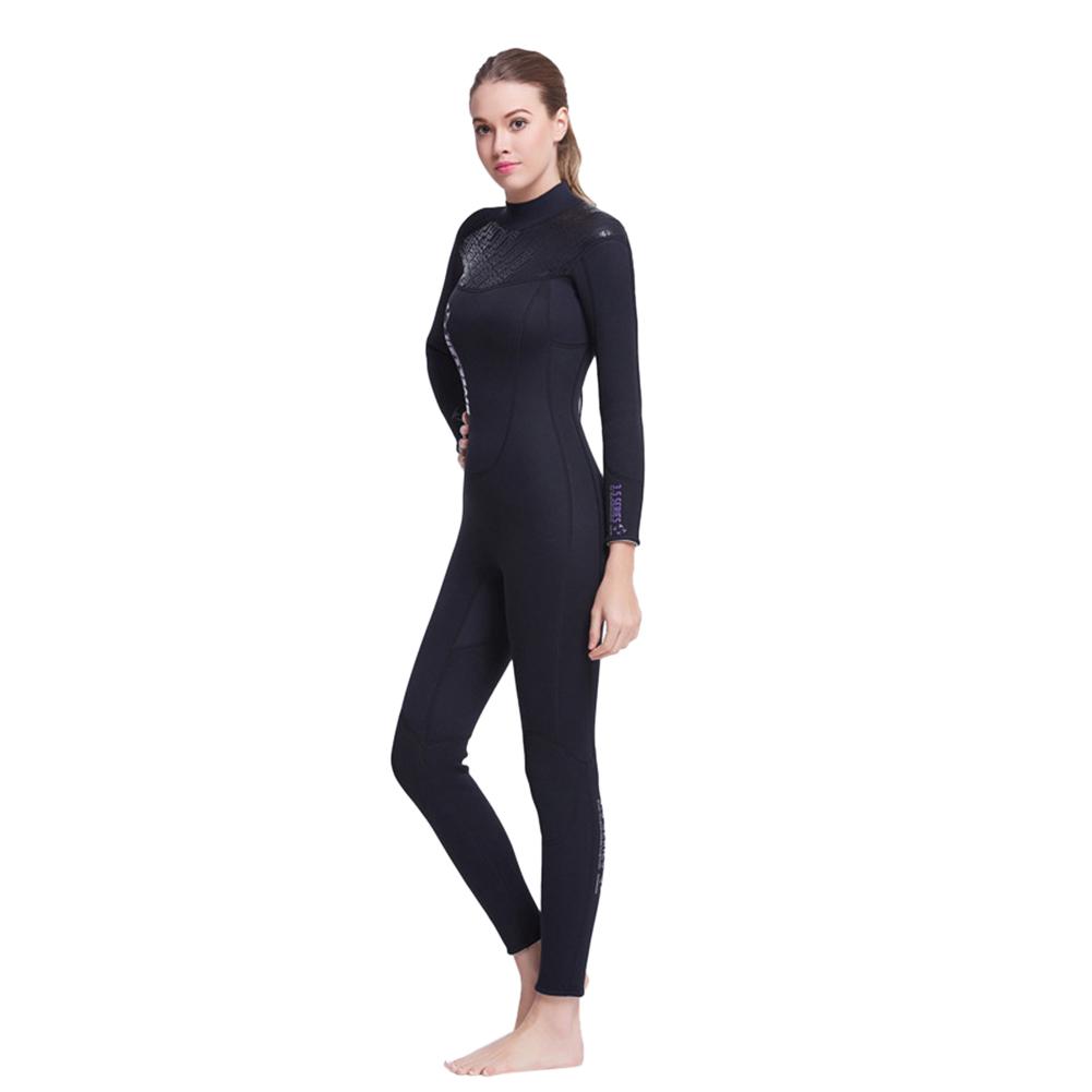 3mm Wetsuit Neoprene Scuba Diving Suit Unisex Dive Spearfishing Wet Suit Female_M/L