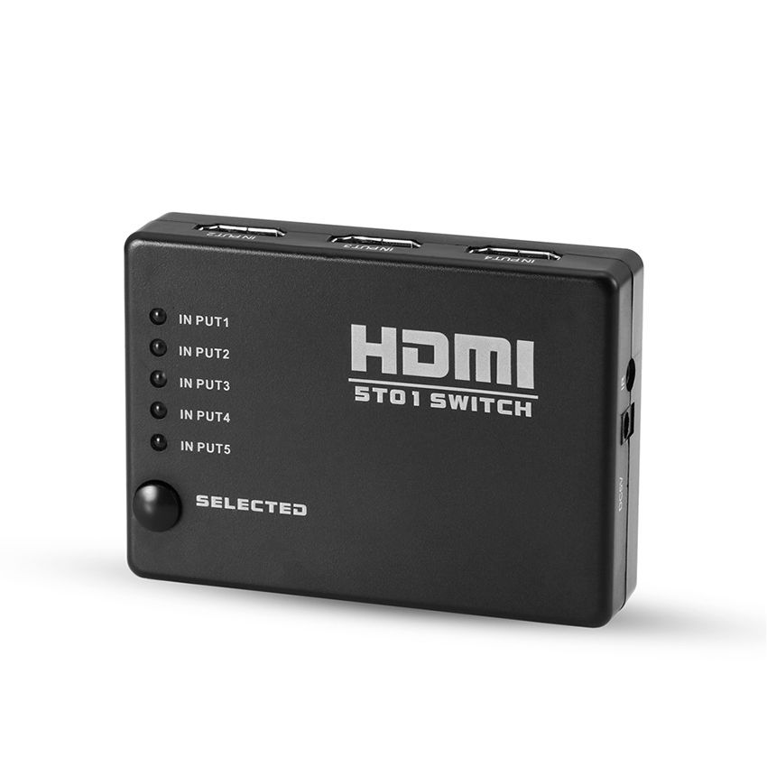HDMI 5 Port Switch Switcher - Black