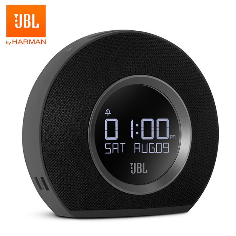 JBL Horizon Bluetooth Speaker Wireless Alarm Clock FM Radio LED Ambient Light Stereo Sound Desktop Bass black