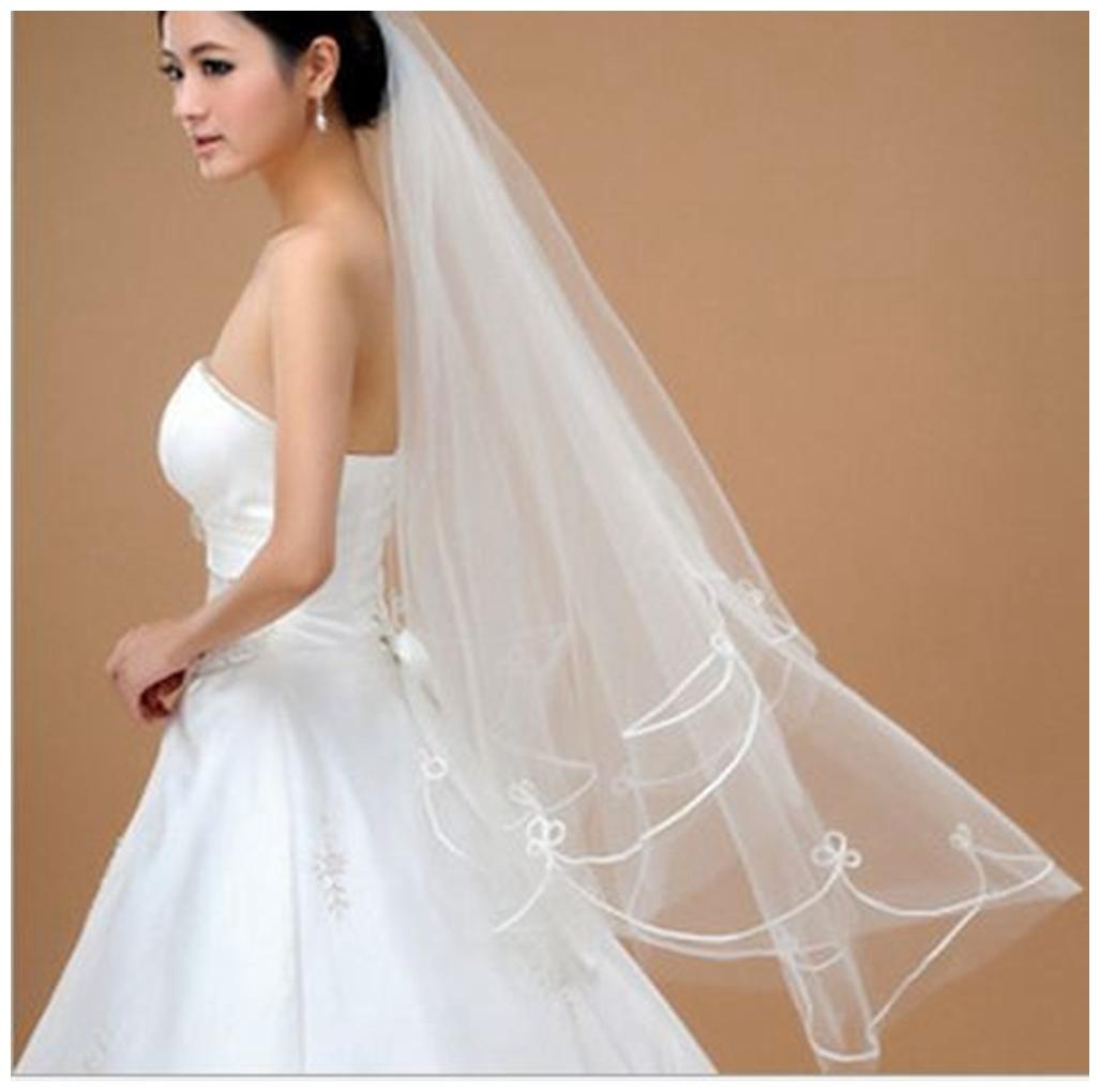 新娘头纱1.5米白色结婚纱头纱