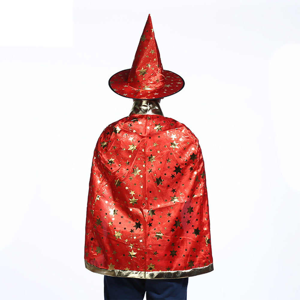 80CM Adult Children Halloween Party Dress Cape Star Pattern Cosplay Cloak PROM Props