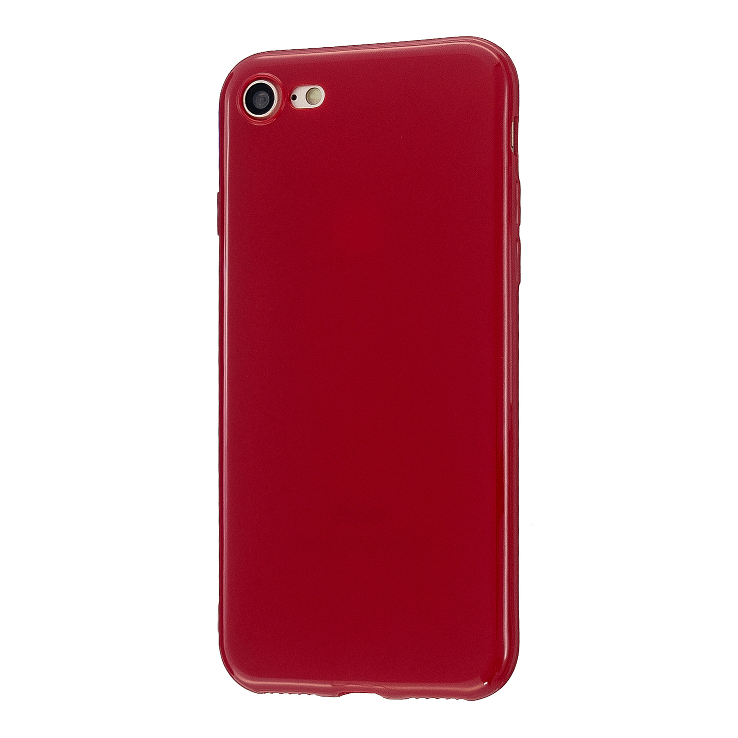 For iPhone 5/5S/SE/6/6S/6 Plus/6S Plus/7/8/7 Plus/8 Plus Cellphone Cover Soft TPU Bumper Protector Phone Shell Rose red