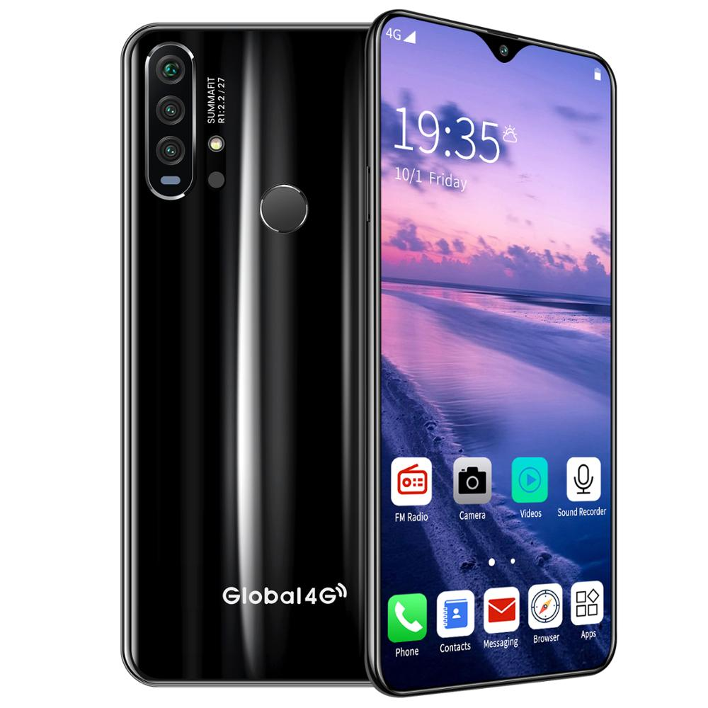 R30 pro Smart Phone 4G Network 3G + 64g High Configuration Face Recognition Fingerprint Recognition Phone black_European regulations