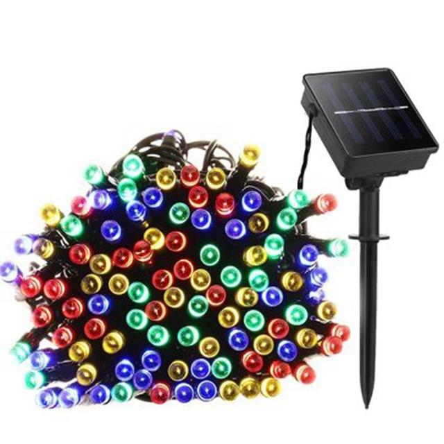 Solar Led string light 32M 300LED RGB single color Decoration Light for Christmas Garden light Holiday Outdoor Fairy light colorful light