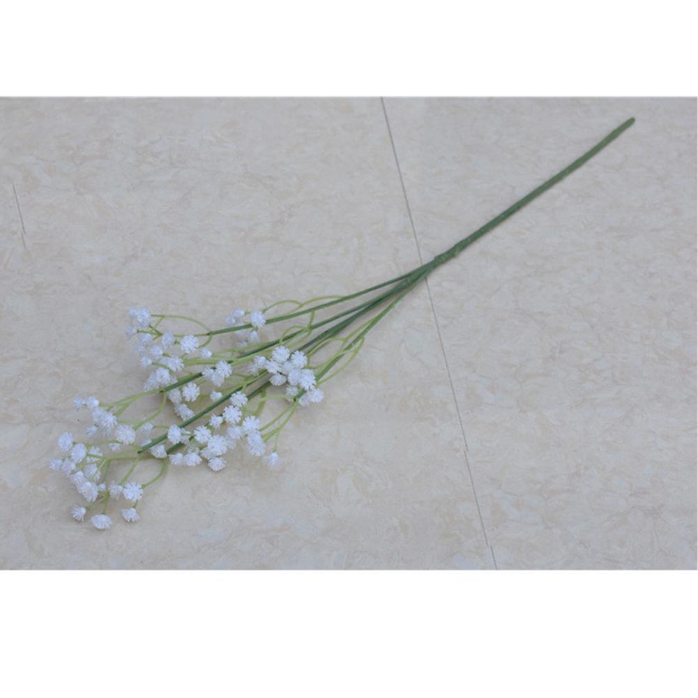 Bride Hand Bouquets Artificial Wedding Flower Simulation Babysbreath Holding Bouquet Decoration white