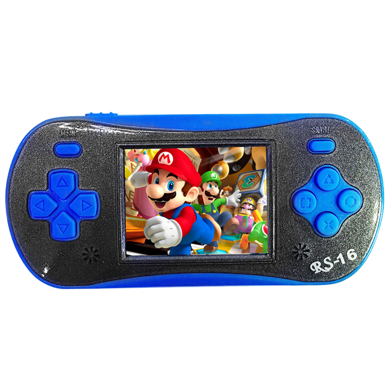 Children Pocket Video Game Player Exquisite Game Machine Birthday Festival Gift blue