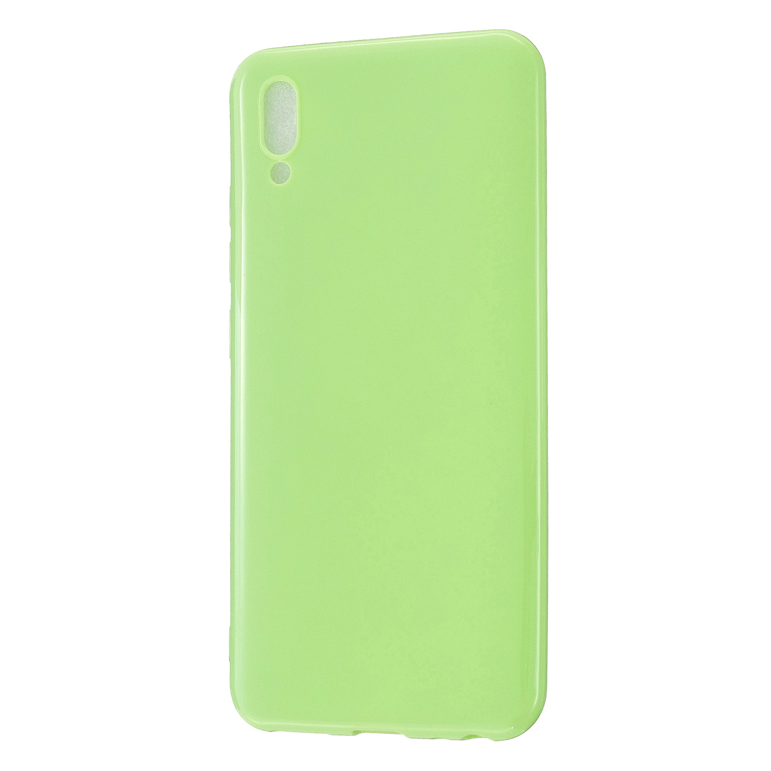 For VIVO IQOO Neo/Y97 Glossy TPU Phone Case Mobile Phone Soft Cover Anti-Slip Full Body Protection Fluorescent green