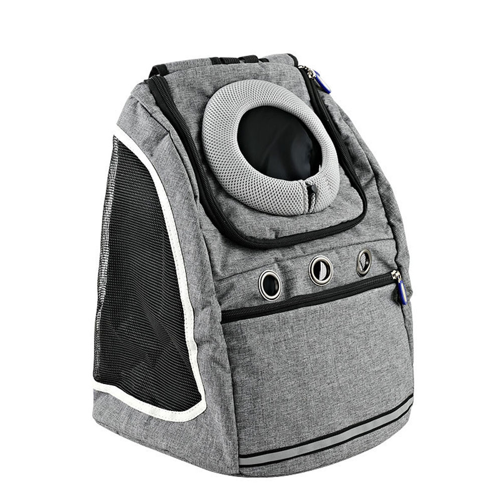 Transport Package Travel Portable Schoolbag Backpack for Cat and Dog gray_L