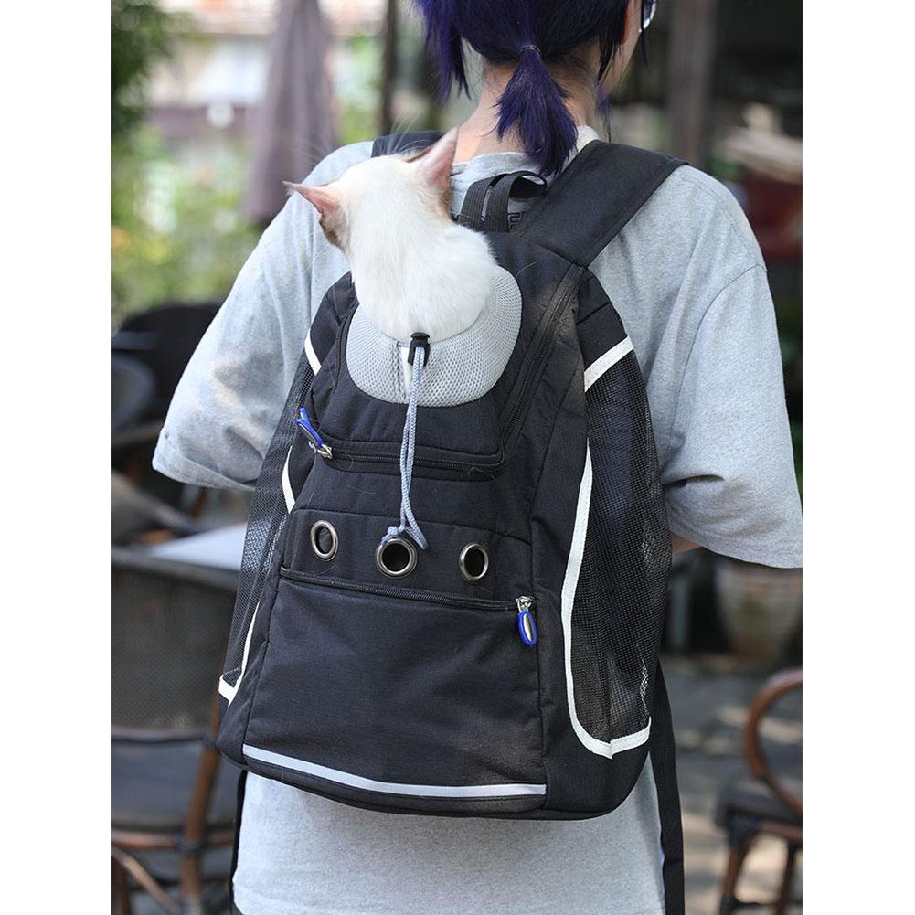 Transport Package Travel Portable Schoolbag Backpack for Cat and Dog black_L