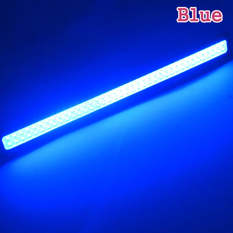 Waterproof LED Ultra Bright Daytime Running light DC 12V 17cm Car Driving lamp 17CM black shell blue light