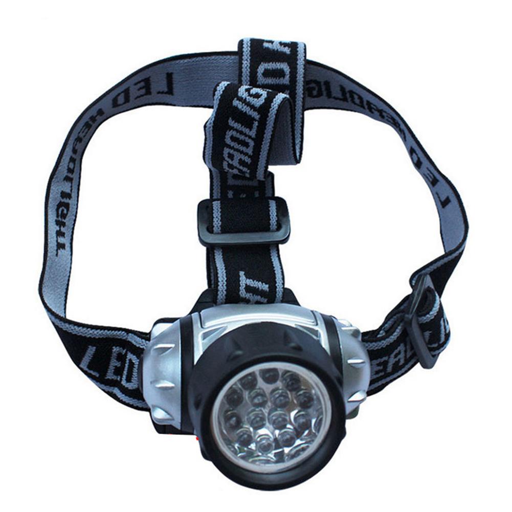 Waterproof 14 LED Headlamp 4 Modes Head Lamp Flashlight Hiking Camping Headlight Battery Powered Helmet Light