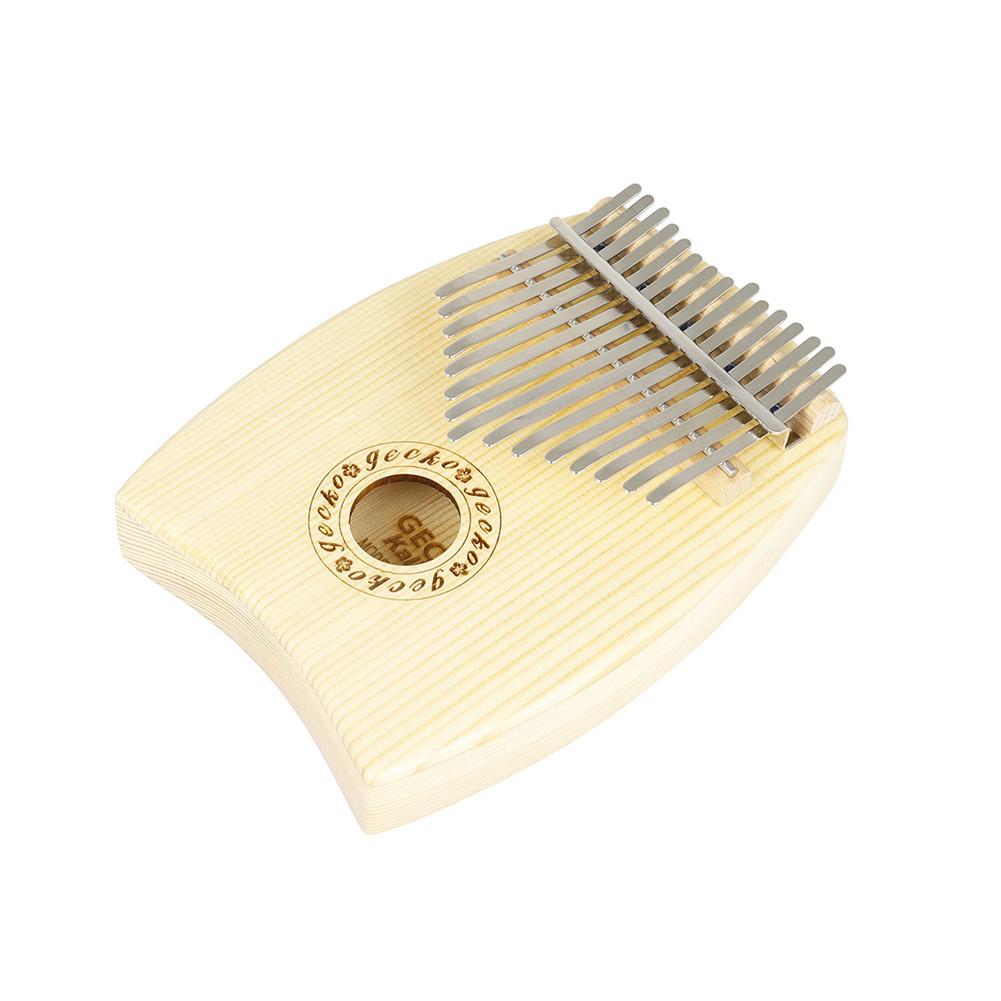 15 Key Kalimba Thumb Piano Delicate Mbira Keyboard Musical Instrument for Musician Beginner Wood color