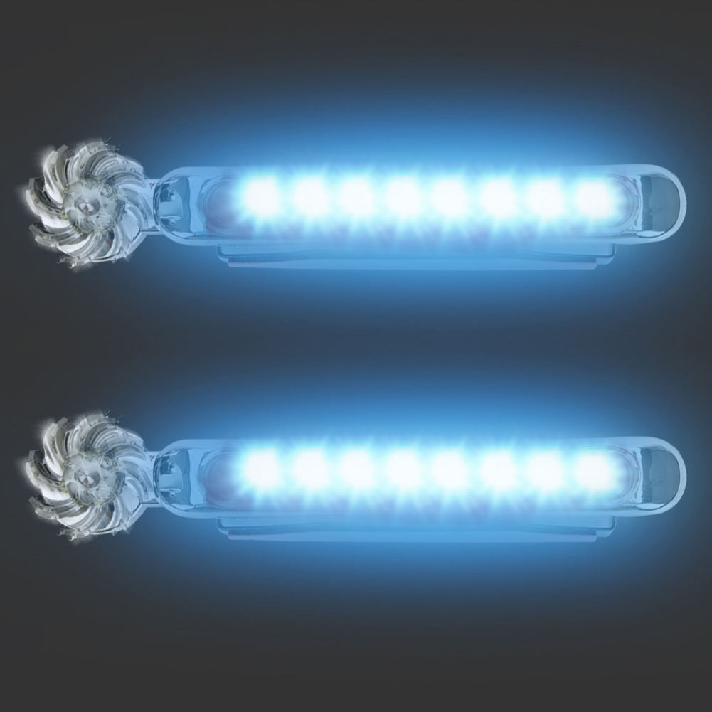 LED No Wiring Wind Powered Car Daytime Running Lights Auto Decorative Lamp blue