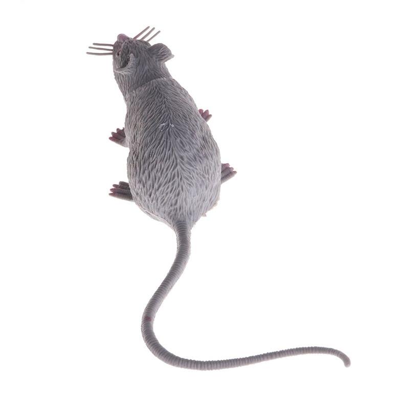 Plastic Rats Mouse Model Trick Toys Halloween Decor Tricks Pranks Props Toy  Gray