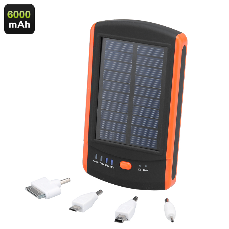 6000mAh Solar Power Bank