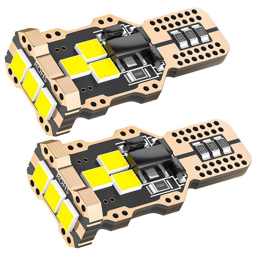 2pcs automobile tail light White 9 SMD LED T15 Bulbs Tail Back-Up Lamp Reverse Light 6W
