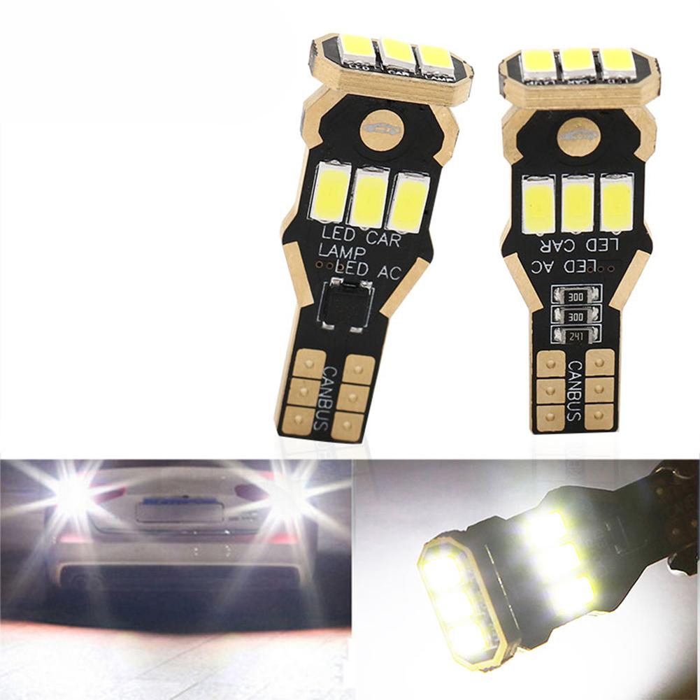 2Pcs Car LED Reversing  Light T15 5730 9smd 5630 9 Lights Decoding Display Width Light White light