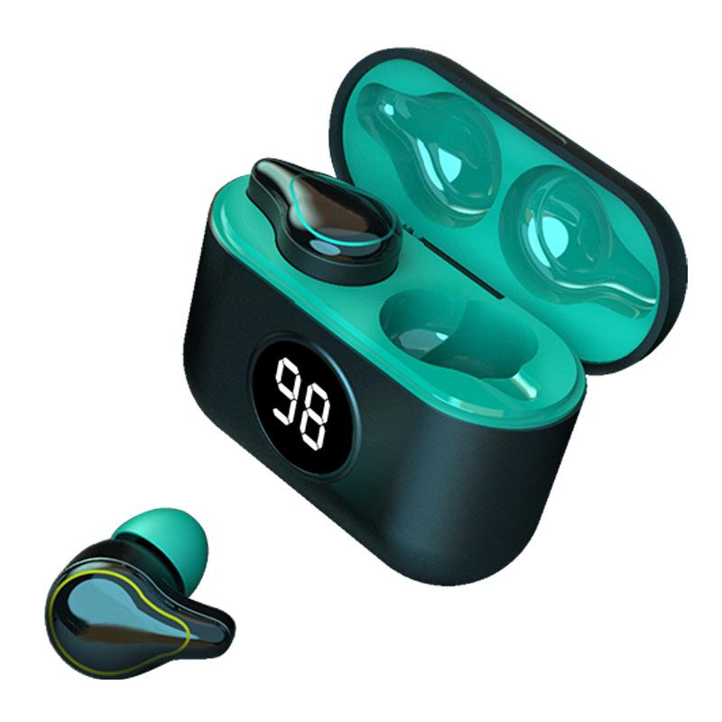 SE16S Bluetooth 5.0 Wireless Headset Waterproof Sweatproof Sports Earbuds TWS Mini Binaural In-ear Earphones With Charging Box blue