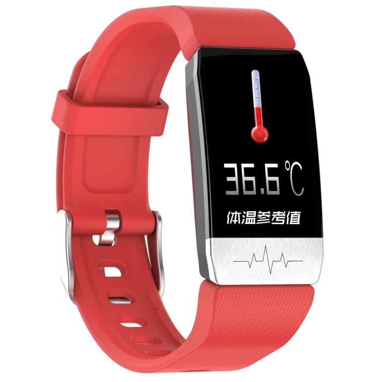 T1 Smart Bracelet Fitness Tracker Blood Oxygen Blood Pressure Watches Smartwatch Activity Tracker red