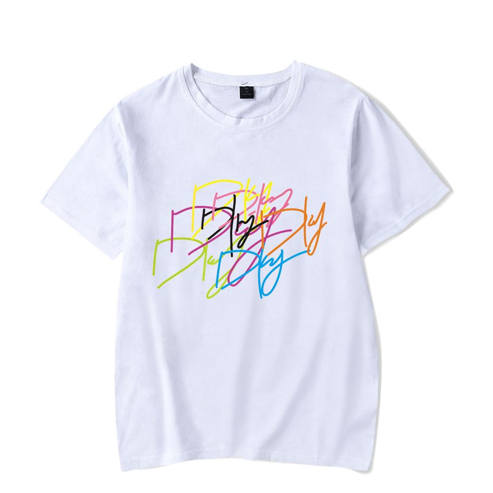 Men Women Summer Seventeen Korean Group Casual Loose T-shirt B white_XL