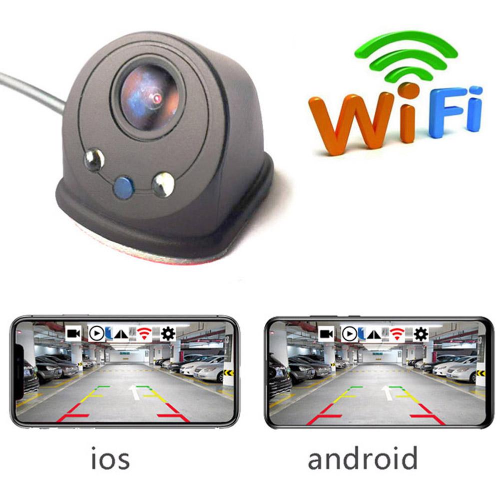 Smart WIFI Car Rear View Camera Reversing Camera Dash Cam HD Night Vision Vehicle Camera PZ436-R black