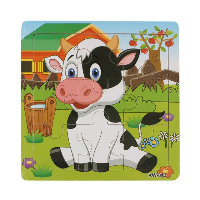 2018 Chamsgend High Quality Wooden Dairy Cow Jigsaw Gift Toys For Kids Education And Learning Puzzles Toys Levert Dropship Apr 4