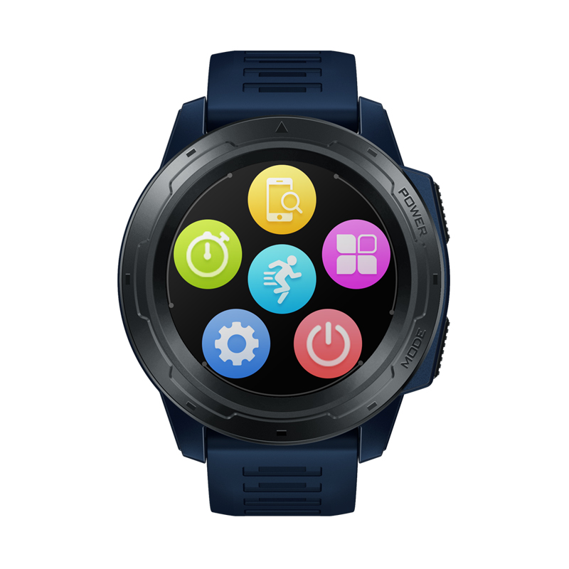 Original ZEBLAZE VIBE 5 PRO Color Touch Display Smartwatch Heart Rate Multi-sports Tracking Smartphone with Notifications WR IP67 Watch blue