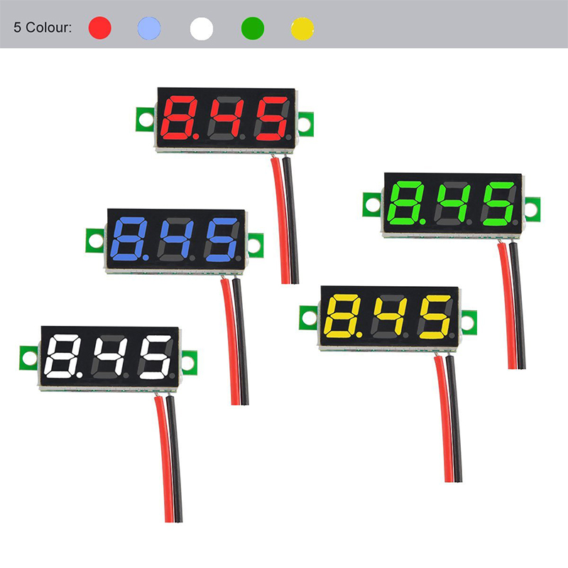 0.28 Inch 2.5V-30V Mini Digital Volt Meterr Voltage Tester Meter blue