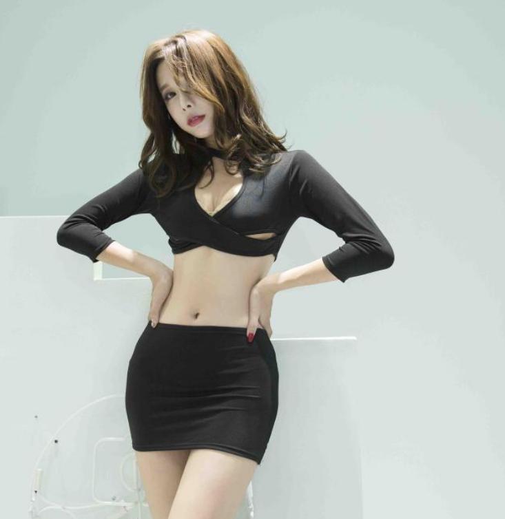 Women Secretary Uniform Costumes Role Play Sexy Lingerie Deep V Neck Seductive Sex Suit Black top + skirt + T-back_One size