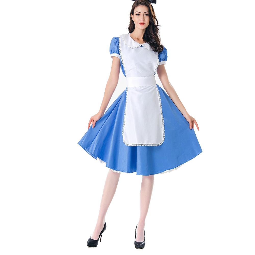 Women Halloween Costume Maid Uniform Beer Festival Waitress Dress 1169_XL