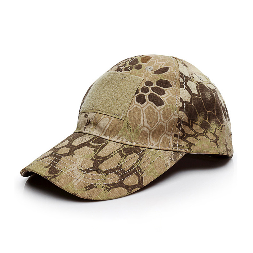 Army Fan Outdoor Baseball Cap Tactical Camouflage Cap Desert Python Pattern _One size