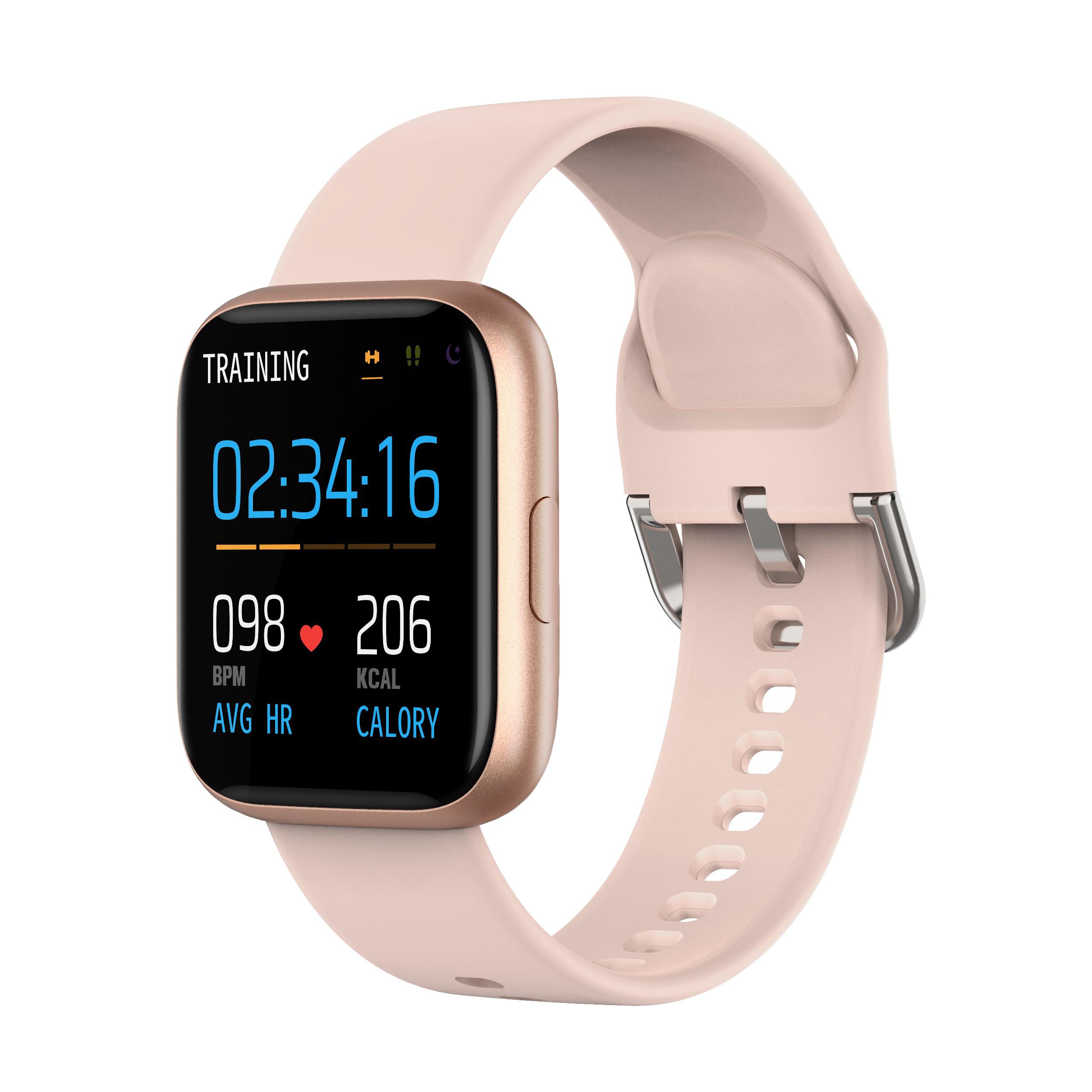 P6 Smart Bracelet Heart Rate Blood Pressure Health Waterproof Smart Watch Bluetooth Watch Wristband Fitness Tracker Gold