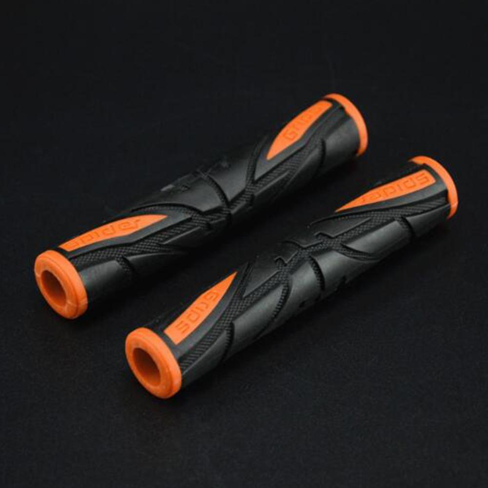 2Pcs Universal Soft Non-Slip Brake Lever Grip Protector Handlebar Cover for Motorcycle Orange