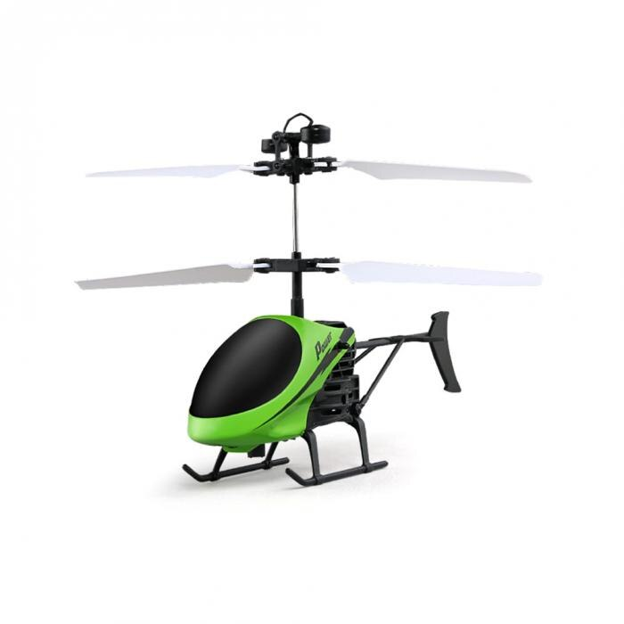 D715 Mini Helicopter Induction Aircraft Remote Control RC Drone with Flash Light @ 88 NSV775 green