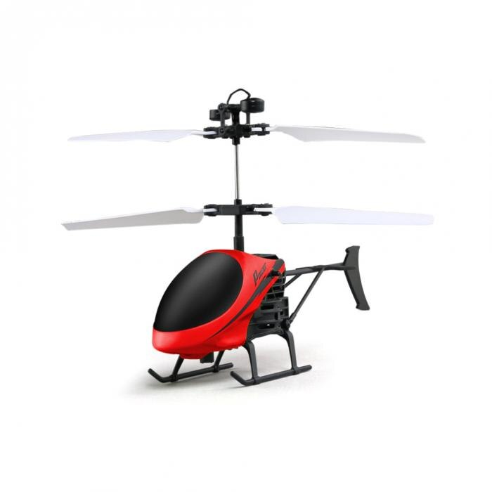 D715 Mini Helicopter Induction Aircraft Remote Control RC Drone with Flash Light @ 88 NSV775 red