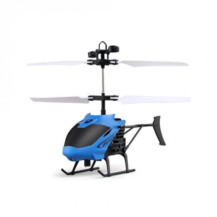 D715 Mini Helicopter Induction Aircraft Remote Control RC Drone with Flash Light @ 88 NSV775 blue