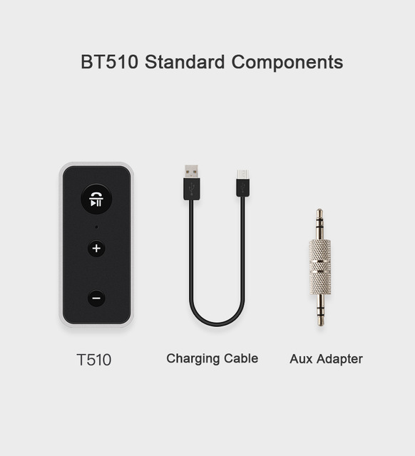 Bluetooth 5.0+EDR Receiver AUX Audio 3.5mm Jack Wireless Receivers for Car Speaker Headphone Adapter Handsfree As shown