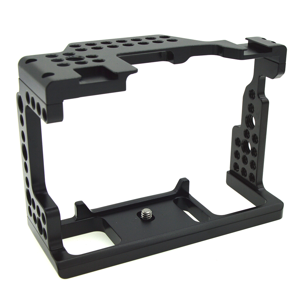 Aluminum Alloy Camera Cage Video Stabilizer for Sony A7II/A7III/A7SII/A7M3/A7RII Camera black