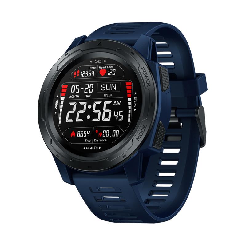 Zeblaze VIBE5 PRO 1.3 inch Touch Sports Bluetooth Smart Watch Heart Rate Monitor IP67 Waterproof Fitness Tracker blue