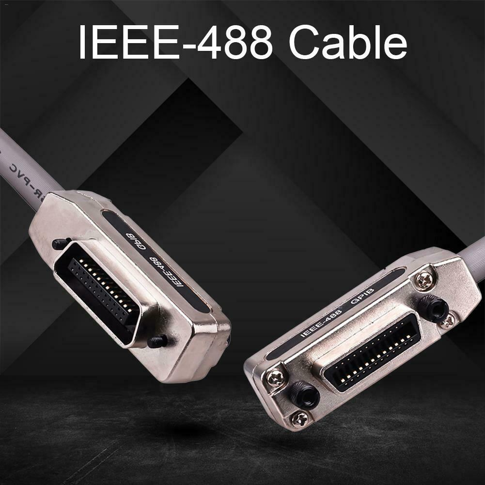 IEEE-488 Cable GPIB Cable Metal Connector Adapter Plug and Play 1.5m