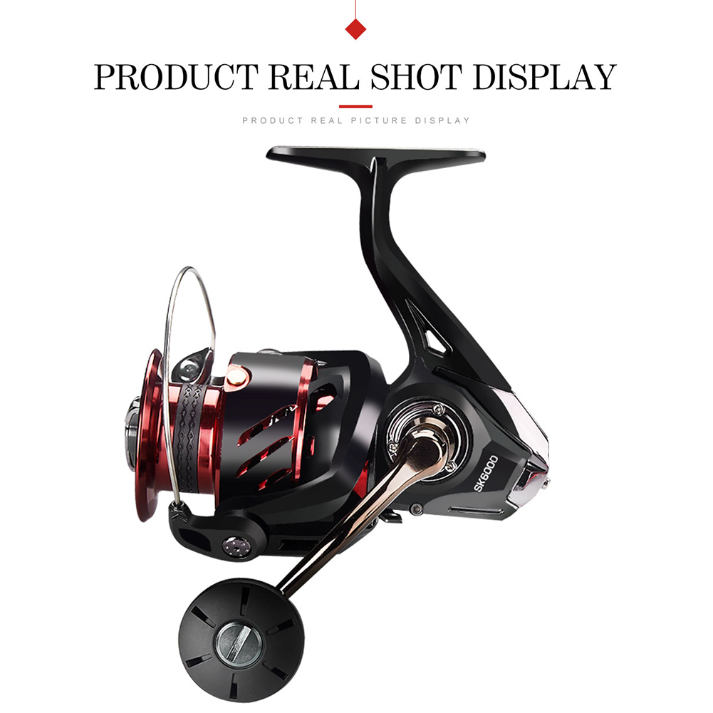 Fishing Reel Baitcasting Reel Freshwater Saltwater Fishing Portable Spinning Reel 6+1BB Wheel SK2000