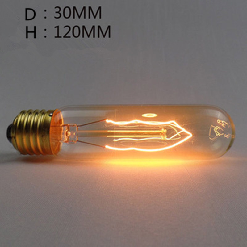 LED Retro Style Edison Tungsten Lamp Bulb for Bedroom Lighting Decor T125