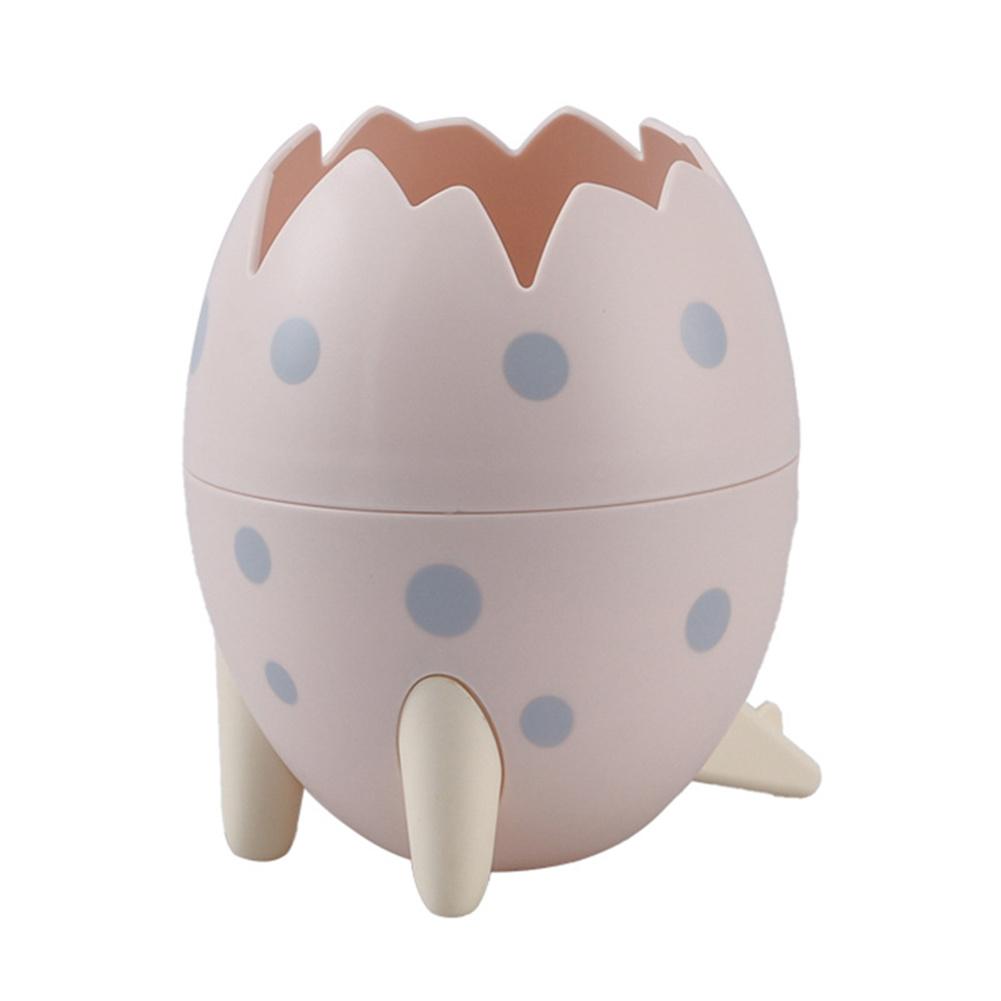 Dinosaur  Egg  Tripod  Desktop  Storage  Box Creative Desktop Makeup Brush Small Objects Organizer Pink