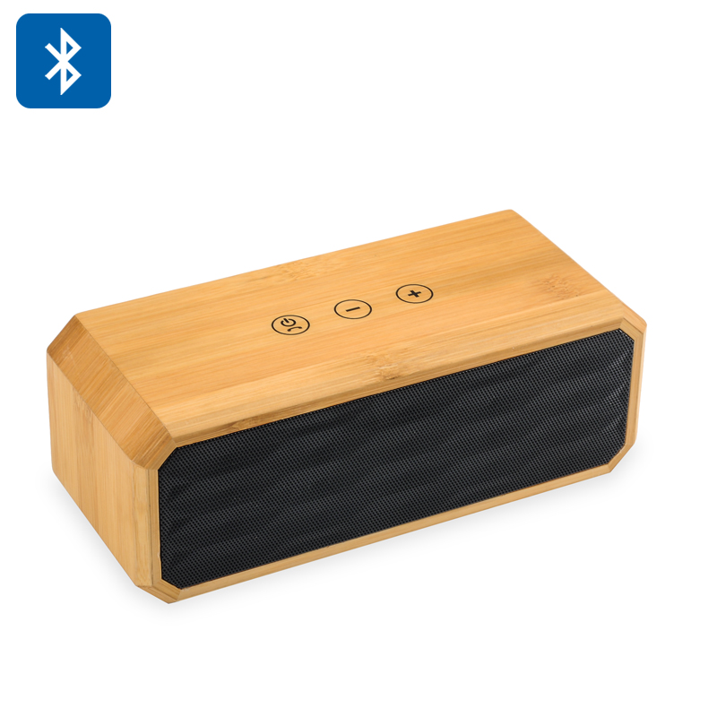 10W Bamboo Wireless Stereo Speaker