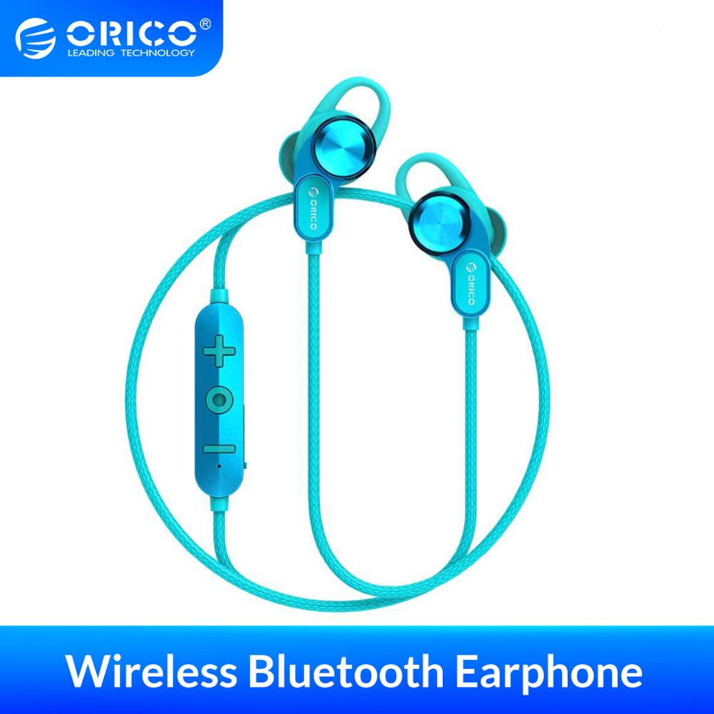 Orico Wireless Bluetooth Headphones Music Game In-Ear Magnetic Suspended Neck Hands-Free Sports Headphones blue